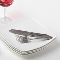 White Bone China Square Side Plate & White Bone China Square Side Plate | Lovely Dinnerware | Pinterest ...