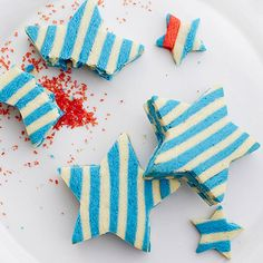 Shooting Star Cookies: http://www.bhg.com/videos/m/92276838/shooting-star-cookie-there-s-a-surprise-inside.htm