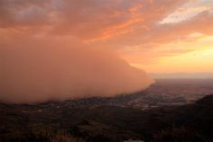 Sunset dust storm in Alamogordo, New Mexico