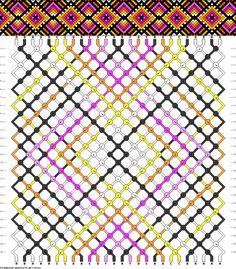Friendship bracelet pattern 84347 - 26 strings, 6 colours new
