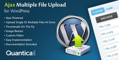 Ajax Multi Upload for WordPress is a file upload WordPress plugin based on jQuery. It can be very easy implemented with simple [ajax_multi_upload] shortcode.