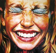Close Up Laugh Make Up Painting By Thomas Saliot