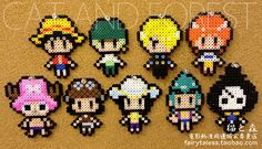 One Piece characters perler beads