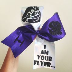 Copy of Darth Vader I Am Your Flyer Cheer Bow Spandex Star Wars