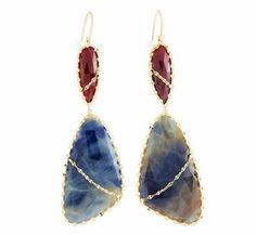 Lana Jewelry Femme Sapphire earrings
