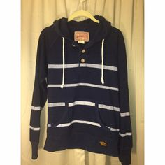 Navy blue and white striped nautical sweater So comfy!! Boyfriend style Navy blue and white striped nautical sweater fits like a medium. (No boyfriend required ) New without tags. Sperry brand style, actual brand is Trademark Brooklyn Cloth Sperry Top-Sider Jackets & Coats