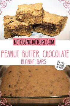 Peanut Butter and Chocolate Bars - Low Carb, Keto