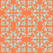 coral fabric, wallpaper & home decor - Spoonflower Textures Patterns, Fabric Patterns, Blue Weave, Dining Room Paint, Nursery Inspiration, Nursery Ideas, Coral Fabric, Coral Blue, Mint Green
