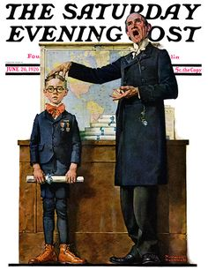 First in His Class, by Norman Rockwell, June 6, 1926