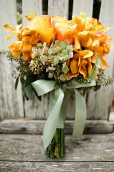 Sunset bouquet | Photography: Monica Roy - www.monicaroy.com  Read More: http://www.stylemepretty.com/california-weddings/2014/05/03/rustic-garden-half-moon-bay-elopement/