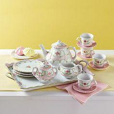Ross-Simons - Children's Floral Porcelain Tea Set - #703926