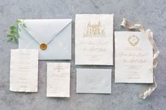 Owl Post Calligraphy - The Romantic Chateau Collection #calligraphy #invitations