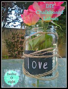 chalkboard labels, chalkboard, labels, wedding, decor, diy, do it yourself, how to make