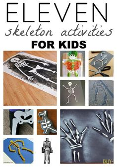 Check out these awesome Skeleton Activities for Kids! Perfect for October and Halloween!