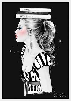 Hola!!os dejo estas ilustraciones de Cristina Alonso para tunear algún complemento