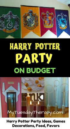 Host a Magical Harry Potter Party On Small Budget Harry Potter Party Games, Harry Potter Classroom, Harry Potter Birthday, Harry Potter Invitations, Birthday Party For Teens, 12th Birthday, Teen Birthday, Birthday Ideas, Harry Potter Marathon