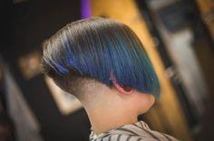 Girls Short Haircuts, Short Girls, Short Hair Cuts, Short Hair Styles, Undercut Bob, Shaved Nape, Stacked Bobs, Inverted Bob, Barber Shop