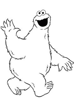 Print out cute coloring pages starring elmo big bird the for Elmo and cookie monster coloring pages to print