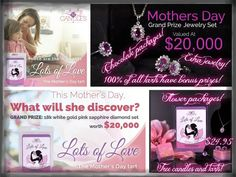 The Mother's Day candle is Morocco Orchid and Amber. Releases 4-7-15 at 7PM Eastern time and you will be able to order it at this time or later on this date. Mom's will love this candle even if she doesn't win the grand prize.  You can also join my wonderful team for $29.95. Send me a message for more information    https://www.jewelryincandles.com/store/missysue