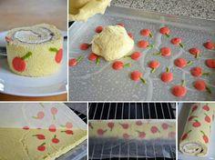Swiss Roll Cake idea by Soufiane El Kadaoui Food Cakes, Cupcake Cakes, Cupcakes, Sweet Recipes, Cake Recipes, Dessert Recipes, Dessert Original, Patterned Cake, Pastry Art