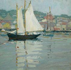 Jane Peterson  The White Sail, Gloucester, Massachusetts