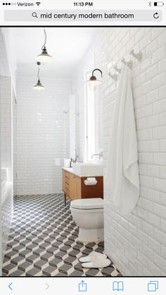 Downstairs bathroom, not the floors