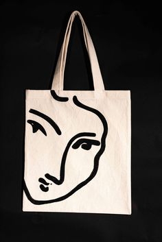 The Nadia tote bag - Matisse hand painted organic cotton tote bag / Made in Fran. The Nadia tote bag – Matisse hand painted organic cotton tote bag / Made in France The Nadia tot Denim Tote Bags, Diy Tote Bag, Cute Tote Bags, Canvas Tote Bags, Painted Bags, Hand Painted, Matisse, Summer Tote Bags, Market Bag