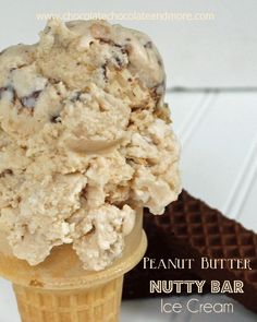 Peanut Butter Nutty Bar Ice Cream because sometimes you just have to take ice cream to the next level.