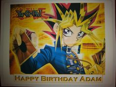 Just created this Yu-Gi-Oh edible cake topper for customer #yugioh #yugiohcakeCake Stuff to Go  You can have your own image or choose a favorite character picture as your cake topper. *Cake not included www.cakestufftogo.com  #Ediblecaketopper #birthday #birthdaycake #party #celebration #createyourown #personalize #cakepictures #cake #cakedecorating