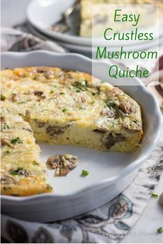 This easy crustless Mushroom Quiche with smoked Gouda is a standout low carb, crustless quiche recipe. keto