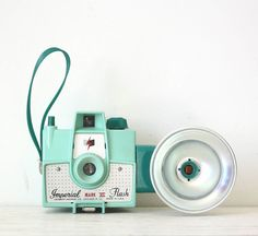 Vintage Mint Green Imperial Mark XII Flash by GallymoggerShoppe, $89.00