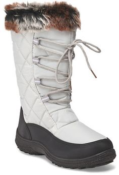 Lace Up Quilted Boot