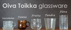 Oiva Toikka Ad Home, Kitchenware, Tableware, Nordic Design, Vintage Glassware, Glass Design, Utensils, Finland, Beautiful Things