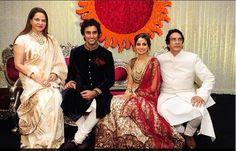 @KapoorKunal and Naina Bachchan w/ latter's parents at their grand wedding reception, April 12, 2015