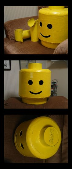 Lego Man Head by KautheLion.deviantart.com