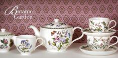 Botanic Garden by Portmeirion-- I've always wanted these beautiful, classic dishes. Melamine Dinnerware Sets, Bone China Dinnerware, Stoneware Dinnerware, White Dinnerware, Tableware, Portmeirion Pottery, Classic Dinnerware, Botanical Gardens, Tea Sets