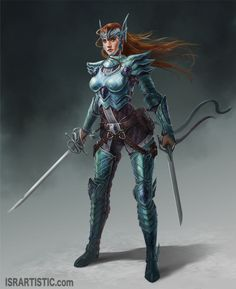 Ryukera by Israel Ac isra-ac_Redesign of my own character 14 months after to show my improvements  2d, fantasy, female, warrior, knight  by  Israel Ac