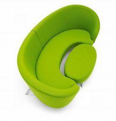 Lime green modern sofa
