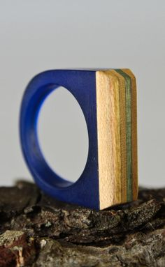 Ring resin and recycled skateboard by simonefrabboni on Etsy