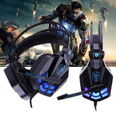 Wired Game Headphone With Mic LED Light Stereo Surrounded Sound Over-Ear Gaming Headset Headband Earphone for Computer PC Gamer