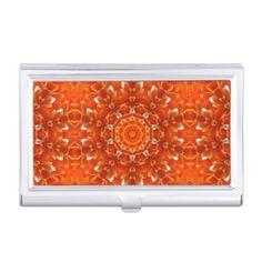 Orange Floral kaleidoscope Tile 48