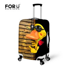FORUDESIGNS Fun 3D Animal Travel Suitcase Protective Covers Anti-dust Travel Luggage Cover Apply to18-30 Inch Storage Bag Case