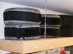 28 best in the garage images on pinterest garage interior garage custom overhead tire storage platform built by rick scully at nuvo garage solutioingenieria Choice Image