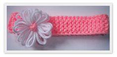 Loom Knit - Spring Flower headband