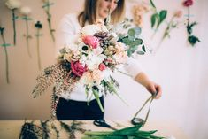 To to wrap a hand-tied bouquet | Just Delightful Events and Abbey Moore Photography | see more on: http://burnettsboards.com/2014/04/diy-hand-tied-bouquet/ #DIY #bridalbouquet