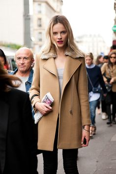 the perfect camel coat