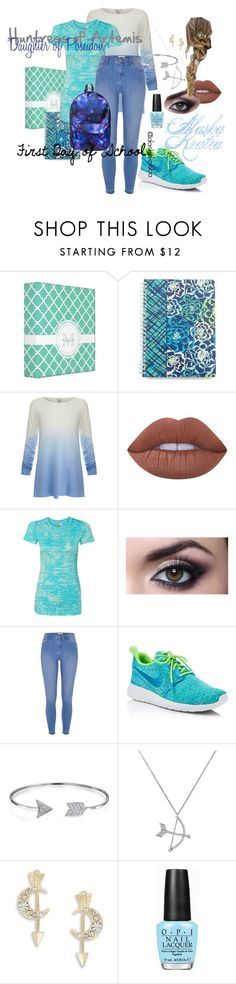 """""""Alaska's First Day of School"""" by alaskakristia ❤ liked on Polyvore featuring Vera Bradley, Joie, Lime Crime, River Island, NIKE, Bling Jewelry, Nanette Lepore and OPI"""