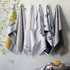 West Elm offers modern furniture and home decor featuring inspiring designs and colors. Create a stylish space with home accessories from West Elm. Egyptian Cotton Towels, Turkish Towels, Best Bath Towels, Hand Towels, Nautical Bathrooms, Modern Bathroom, Luxury Towels, Striped Towels, Racing Stripes