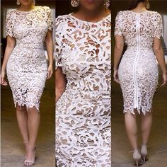 Vintage Embroidery  Floral  Crochet Lace DressBandage Midi Evening Party Pencil Dress