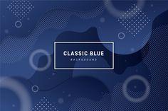 Fondo azul clásico abstracto vector grat... | Free Vector #Freepik #freevector #fondo #abstracto #geometrico #ola Vector Freepik, Blue, Blue Backgrounds, Color Of The Year, Geometric Background, Vector Background